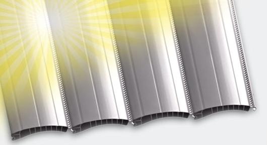 Blendschutz beim mikroperforierten Kunststoff Rolladen