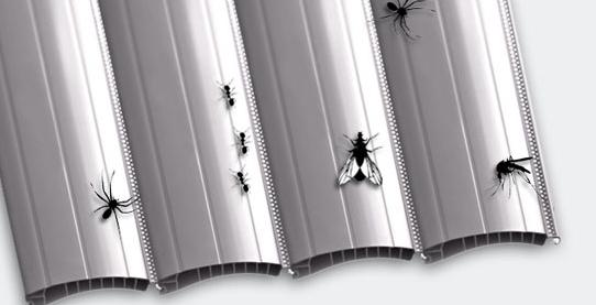 Erhöhter Insektenschutz beim mikroperforierten Kunststoff Rolladen