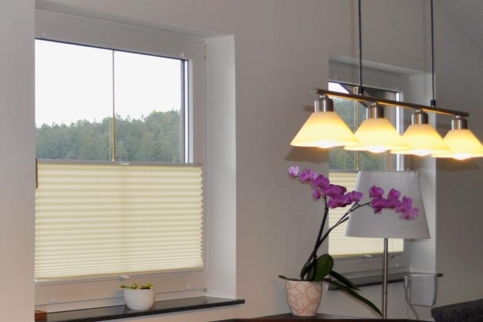plissee easyfix inkl klemmhalter farbe creme rolloscout internetshop ug. Black Bedroom Furniture Sets. Home Design Ideas