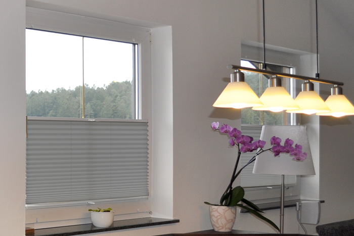 plissee easyfix inkl klemmhalter farbe weiss rolloscout internetshop ug. Black Bedroom Furniture Sets. Home Design Ideas